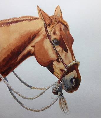 Rawhide Painting - Dally by Valerie Coe