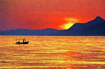 Digital Art - Dalmatia Sunset by Dennis Cox