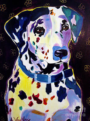 Dawgart Painting - Dalmatian - Dottie by Alicia VanNoy Call