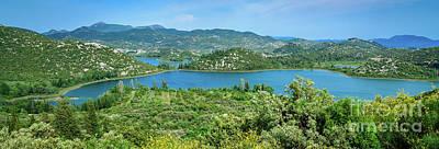 Dalmatian Coast Panorama, Dalmatia, Croatia Art Print