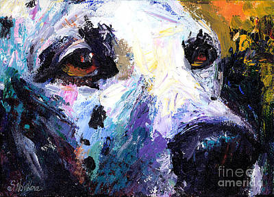 Textures Drawing - Dalmatian Dog Painting by Svetlana Novikova