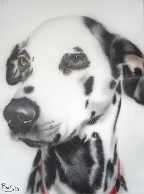 Painting - Dalmatian Portrait by Bas Hollander
