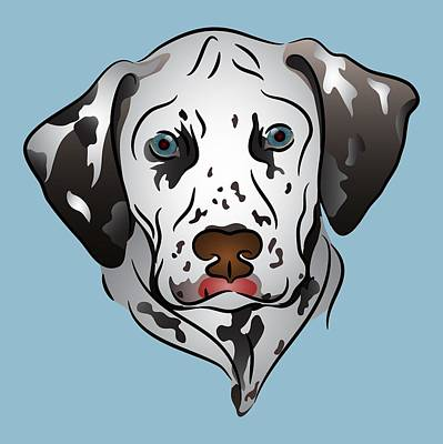 Digital Art - Dalmatian Portrait by MM Anderson