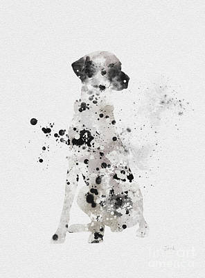 Dog Mixed Media - Dalmatian by Rebecca Jenkins