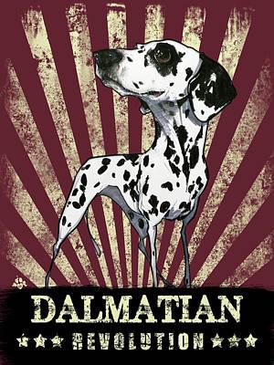 Drawing - Dalmatian Revolution by John LaFree