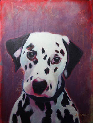 Wall Art - Painting - Dalmation by Alison Stafford
