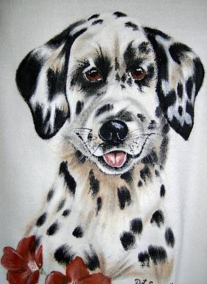 Painting - Dalmation Pup by Debra Campbell