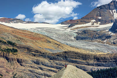 Daly Glacier And Yoho National Park Adventure Art Print