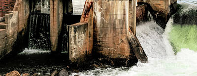 Photograph - Dam Abstract by Mim White