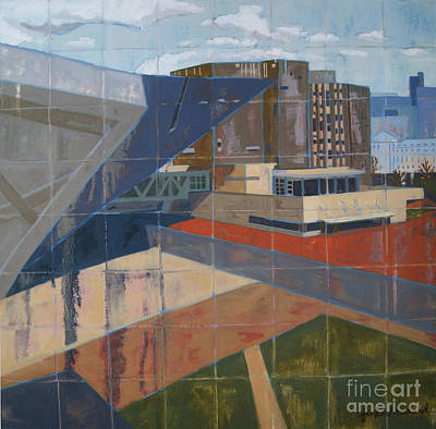 Print featuring the painting Dam Museum by Erin Fickert-Rowland