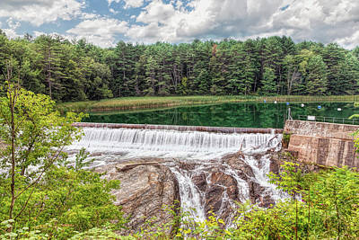 Photograph - Dam On The Ottauquechee River by John M Bailey