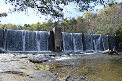 Photograph - Dam On West Fork Of Little River Above De Soto Falls by rd Erickson