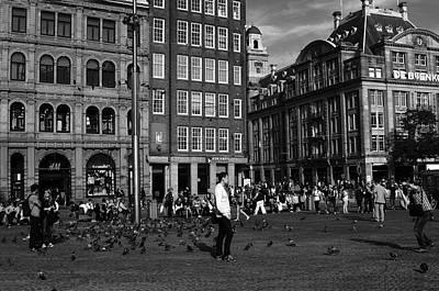 Photograph - Dam Square Amsterdam by Aidan Moran
