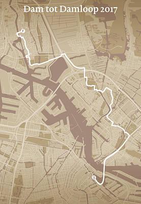 Amsterdam Digital Art - Dam Tot Damloop #1 by Big City Artwork