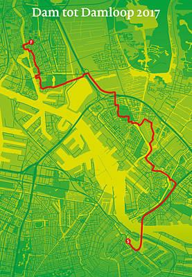 Amsterdam Digital Art - Dam Tot Damloop #2 by Big City Artwork