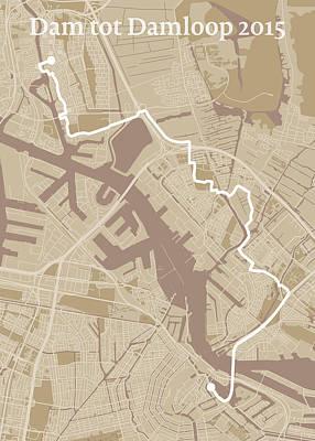 Amsterdam Digital Art - Dam Tot Damloop 2015 #1 by Big City Artwork