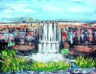 Painting - Dam by Wanvisa Klawklean