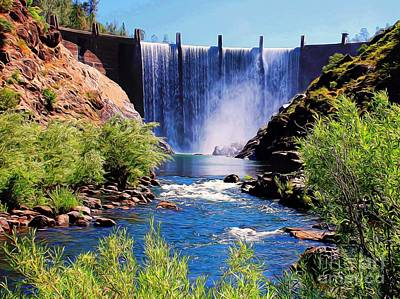 Digitally Created Photograph - Dam Waterfall by Patrick Witz