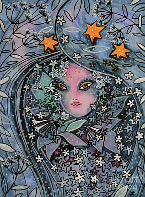 Dama De Noche Print by Zaira Dzhaubaeva