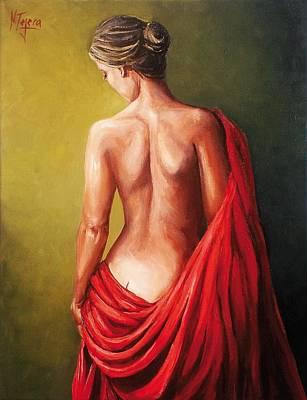 Painting - Dama De Rojo by Natalia Tejera