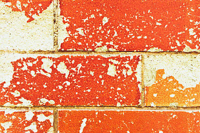Messy Photograph - Damaged Brick by Tom Gowanlock