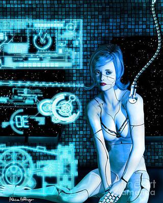 Digital Art - Damaged Cyborg by Alicia Hollinger