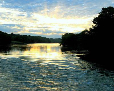 Damariscotta Photograph - Damariscotta River Sunrise by Laurie Breton