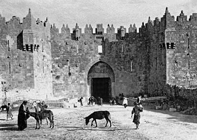 Donkey Digital Art - Damascus Gate Jerusalem by Munir Alawi