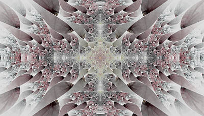 Digital Art - Damask by Lea Wiggins