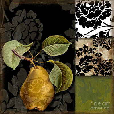 Pears Painting - Damask Lerain by Mindy Sommers