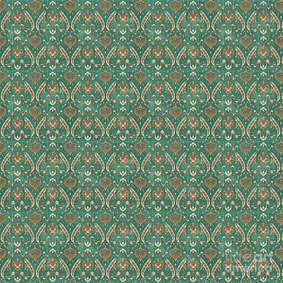 Digital Art - Damask Pattern-jp-a by Jean Plout