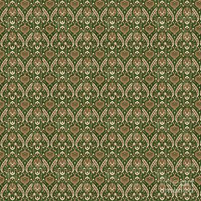 Digital Art - Damask Pattern-jp-b by Jean Plout