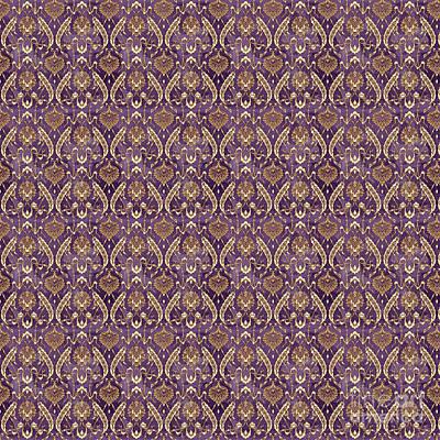 Digital Art - Damask Pattern-jp-c by Jean Plout