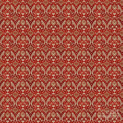 Digital Art - Damask Pattern-jp-d by Jean Plout