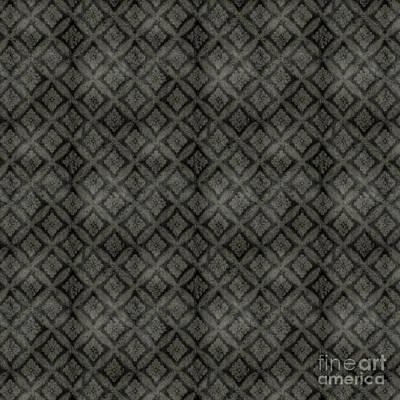 Digital Art - Damask Pattern-jp-e by Jean Plout