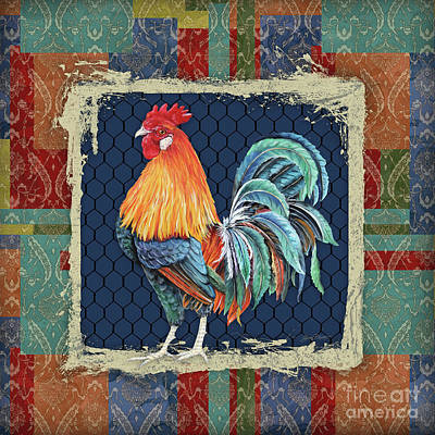 Painting - Damask Rooster-p by Jean Plout
