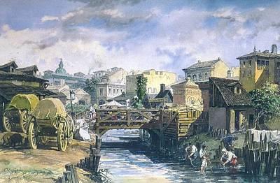 Amedeo Preziosi Painting - Dambovita by Amedeo