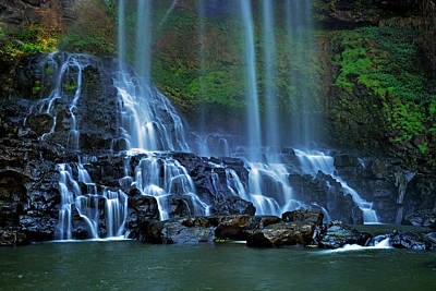 Photograph - Dambri Waterfall by Tran Minh Quan