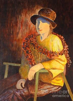 Painting - Dame Au Chapeau by Claire Gagnon