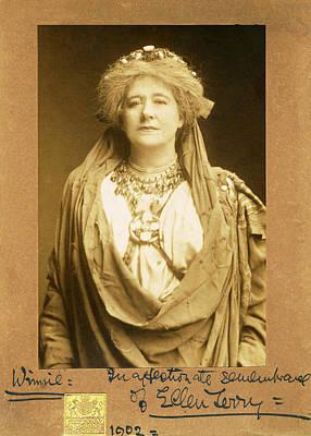Photograph - Dame Ellen Terry As Volumnia In Coriolanus by Sarah Vernon
