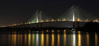 Photograph - Dames Point Bridge by Art Cole