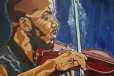 Painting - Damien Escobar by Rachel Natalie Rawlins