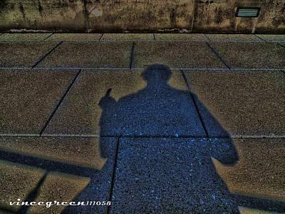 Digital Art - Damn Shadow Figure by Vince Green