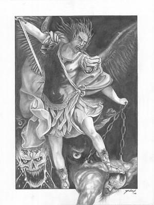 Damnation Of Evil Art Print by Julian  B