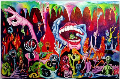 Damnation Of The Evil Art Print