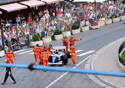 Photograph - Damon Hill's Williams-renault At Monaco by John Bowers