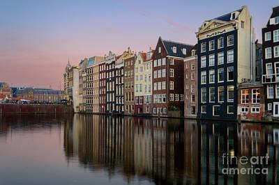 Amsterdam Digital Art - Damrak Canal, Amsterdam by Sinisa CIGLENECKI