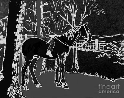 Painting - Dan And Horse 10 by Larry Campbell