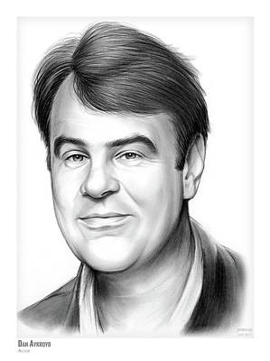 Musicians Drawings - Dan Aykroyd by Greg Joens