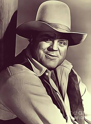 Musicians Royalty-Free and Rights-Managed Images - Dan Blocker, Vintage Actor by John Springfield